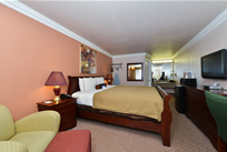 1 King Bed Mini Suite at Americas Best Vallue Inn & Suites San Francisco Airport